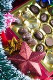 Chocolates lujosos de la Navidad Imagen de archivo