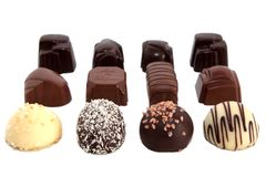Chocolates luxuosos 2 imagem de stock