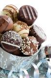 Chocolates luxuosos do Natal Imagens de Stock Royalty Free