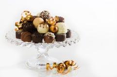 Chocolates luxuosos do Natal Foto de Stock