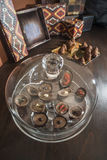 Chocolates in a luxurious glass dish Royalty Free Stock Image