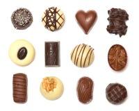 Chocolates mezclados Fotografía de archivo
