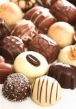 Chocolates misturados imagens de stock royalty free