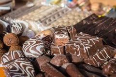 Chocolates mouthwatering deliciosos fotos de stock royalty free
