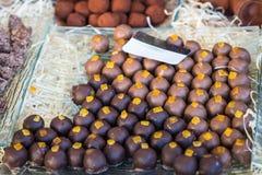 Chocolates mouthwatering deliciosos fotografia de stock