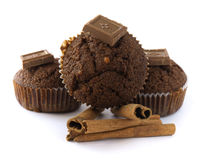 Chocolates muffins Stock Photo