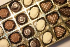 Chocolates nas formas Fotografia de Stock