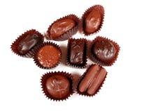 Chocolates no branco foto de stock royalty free