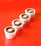 Chocolates with nut filling Stock Photos