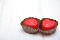 Chocolates para las tarjetas del día de San Valentín Imagen de archivo