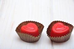 Chocolates para las tarjetas del día de San Valentín Foto de archivo