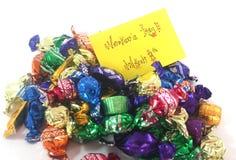 Chocolates para mujer del día Fotografía de archivo libre de regalías