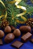 Chocolates para o Natal Imagens de Stock