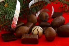 Chocolates para o Natal Fotografia de Stock