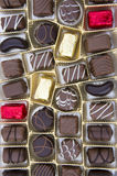 Chocolates. Picture of tasty milk chocolates Royalty Free Stock Image