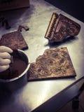 Chocolates reales Imágenes de archivo libres de regalías