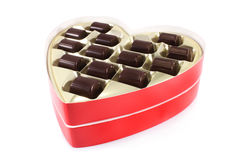Chocolates in red box Stock Photography