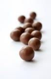 Chocolates redondos Imagem de Stock