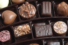 Chocolates seen from above Royalty Free Stock Image