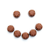 Chocolates smile Royalty Free Stock Photos