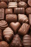 Chocolates sortidos fotografia de stock royalty free
