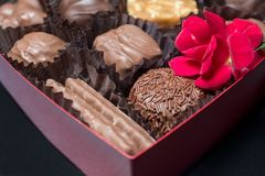Chocolates for a special valentine Royalty Free Stock Image
