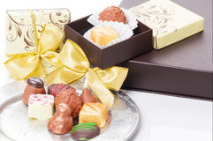 Chocolates and sweets as a gift Stock Photography