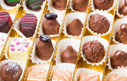 Chocolates, sweets and  truffles Royalty Free Stock Photo