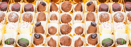 Chocolates, sweets and truffles Stock Photo