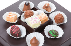 Chocolates and sweets, truffles Royalty Free Stock Photos