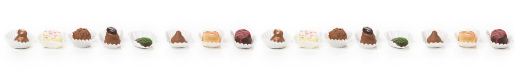 Chocolates and sweets, truffles Stock Photos