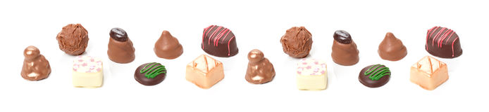 Chocolates, sweets  and truffles Stock Image