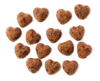 Chocolates truffles in bulk for Valentine's Day. Royalty Free Stock Images