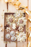 Chocolates and truffles for christmas Royalty Free Stock Photos