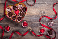 Chocolates for Valentine's Day Royalty Free Stock Photography