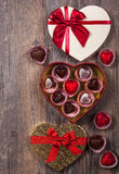 Chocolates for Valentine's Day Royalty Free Stock Photos