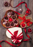 Chocolates for Valentine's Day Royalty Free Stock Image