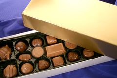 Chocolates of Various Shapes Stock Image