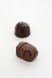 Chocolates on White Background. Assorted Chocolates on a white background Stock Photo