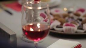 Chocolates and wine stock video