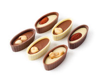 Chocolates With Nuts Stock Photography