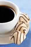 Chocolates y café blancos Fotografía de archivo