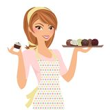Chocolatier Woman Stock Photo