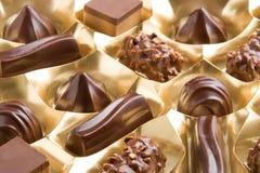 Chocolats assortis Photo stock