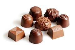 Chocolats assortis Photos libres de droits