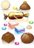chocolats assortis de sucrerie illustration stock
