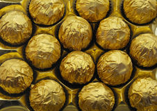 chocolats d'or Images stock