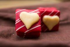 Chocolats d'amoureux d'amour Photos stock