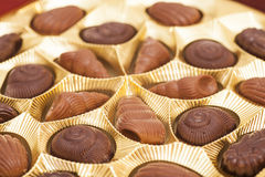 Chocolats d'un assortiment Images libres de droits