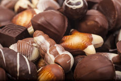 Chocolats d'un assortiment Image stock